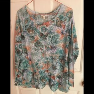 Dylan for Sundance Floral Top sz S NWT